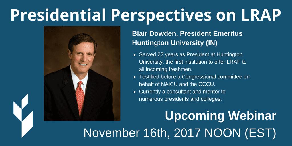 Presidential Perspectives on LRAP Webinar